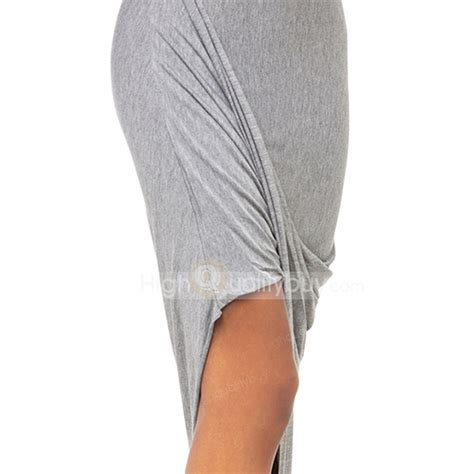ruched asymmetrical draped skirt sexy grey ruched asymmetrical draped skirt for women 10 91