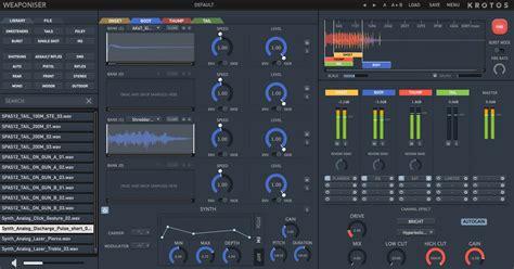 product layout plugin kvr weaponiser basic by krotos sound design vst plugin