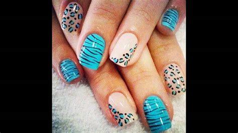 imagenes de uñas pintadas de color turqueza dise 241 os de u 241 as decoradas con blanco y azul youtube