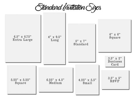 card sizes for card standard size of invitation card festival tech