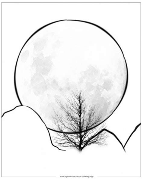 full moon coloring pages for kids search results