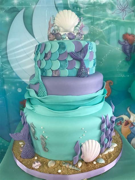 Pin De Mariela Martinez En Fiesta Camila  Ee  Mermaid Ee   Cakes