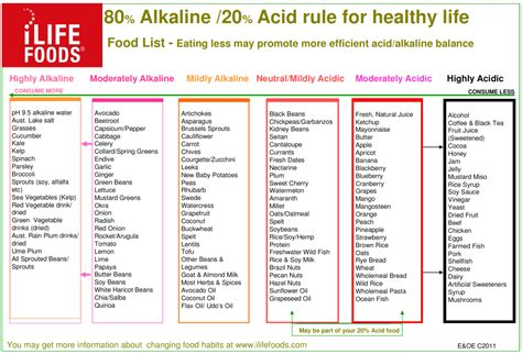 printable alkaline recipes acid alkaline food chart printable book covers