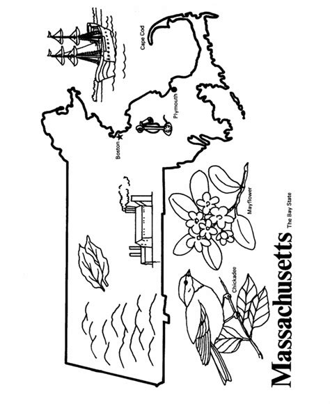 massachusetts state outline coloring page cc cycle