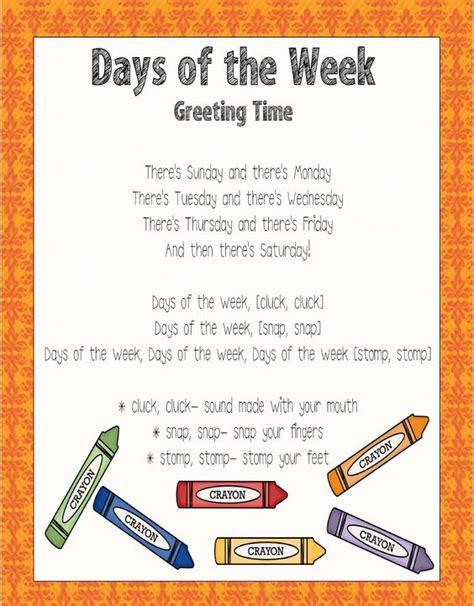 week song family theme the family and family songs on