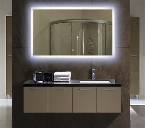 luxury backlit slimline illuminated bathroom mirrors with illuminated mirrors for bathrooms interiors design