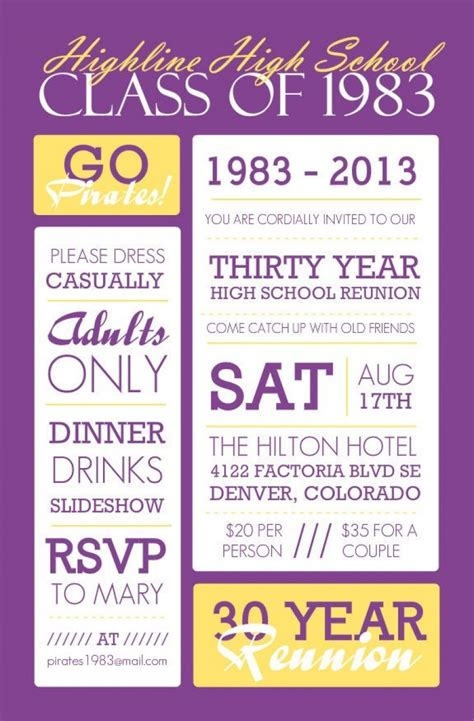 astonishing reunion invitation card templates 78 for