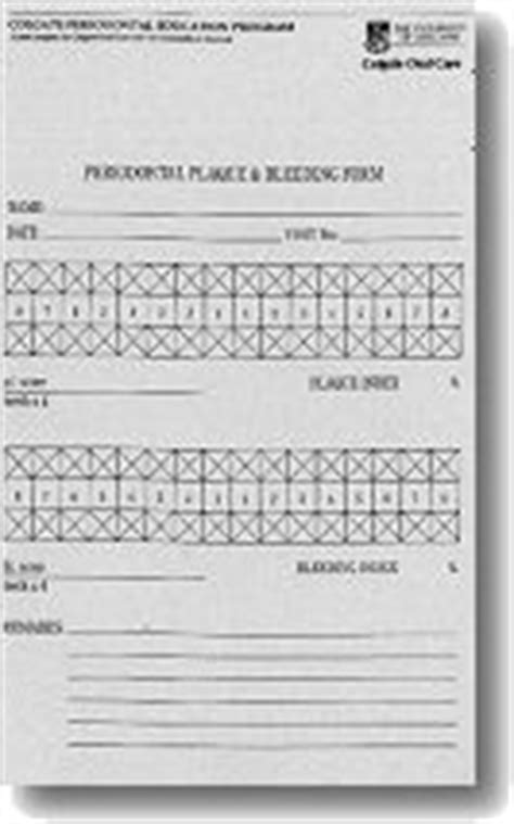 dental practice education research unit periodontal charting forms