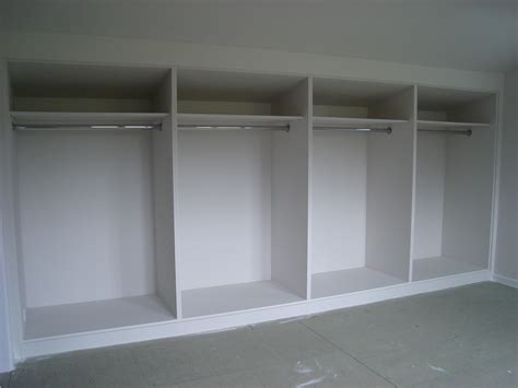 Designer Kitchen Units White Painted Mdf Built In Wardrobes With Frame And Panel