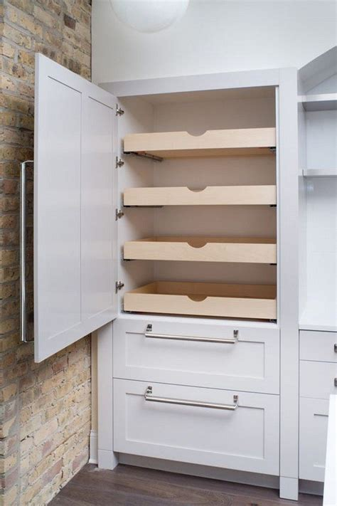 built in pantry how to build pull out pantry shelves diy projects for