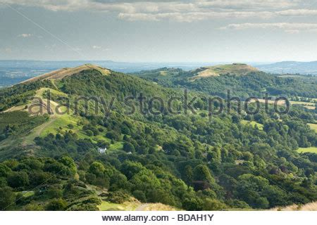 view looking south along the malvern hills towards