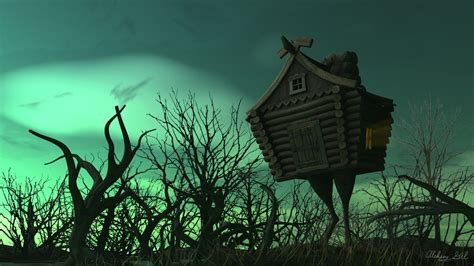 house on chicken legs by peaceful daemon on deviantart