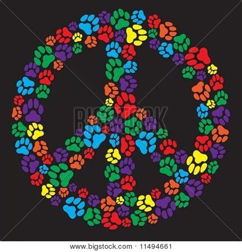 peace sign dog paw prints image cgpc