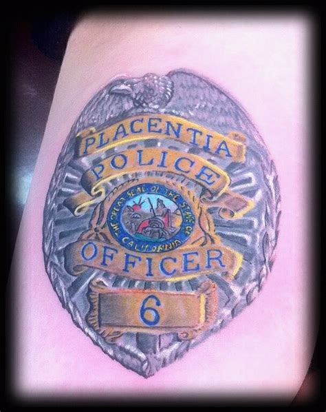 police badge tattoo badge memorial rebirth by vinnie