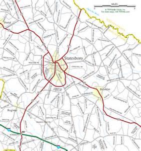 statesboro ga map