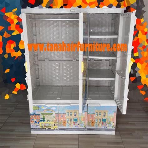 Lemari Plastik Gantungan Akako Tipe 1 4 lemari plastik akako a3 g 1 4 tak dalam terbuka