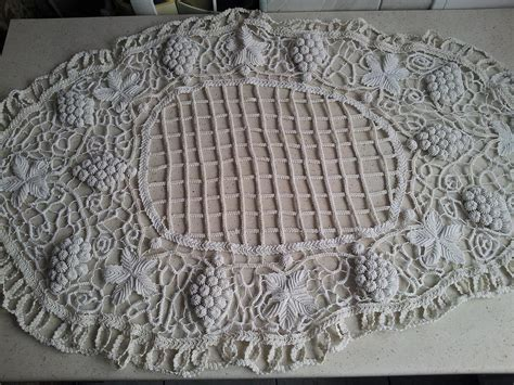 Handmade Table Cloths - handmade crochet tablecloth tapestry textile by