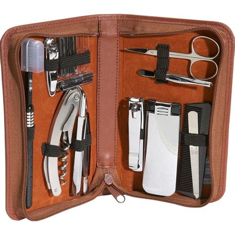 traveling groomers mens leather travel and grooming kit by royce leather travel kits travel bags