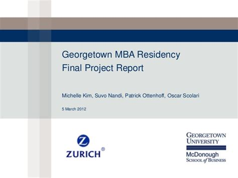 Georgetown Mba Healthcare by Georgetown Mba Presentation Zurich Uae Analysis Of