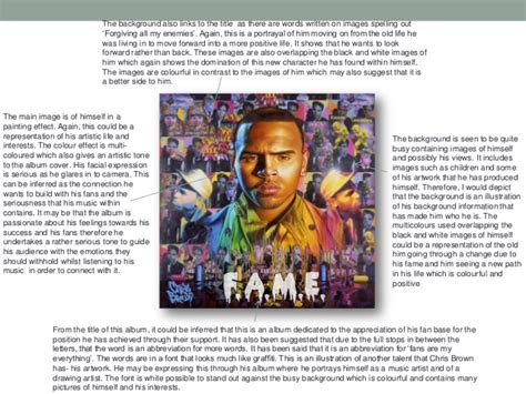 cd album front and back cover analysis