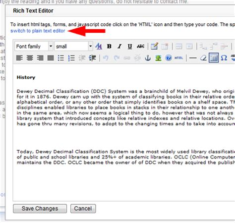 html format vs rich text plain text editor in libguides springshare blog