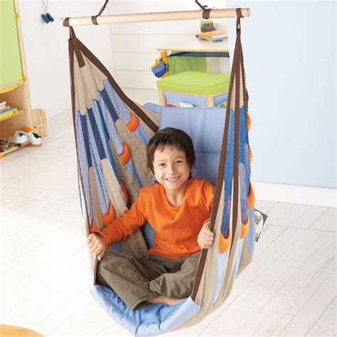 indoor hanging swing chair for kids haba piratos swing seat contemporary kids chairs by