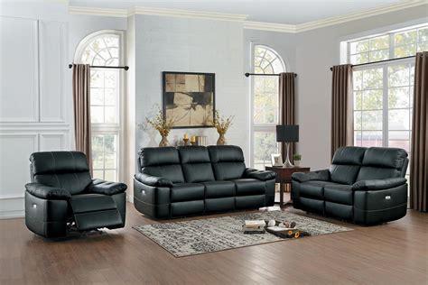 homelegance reclining sofa homelegance nicasio power reclining sofa set black
