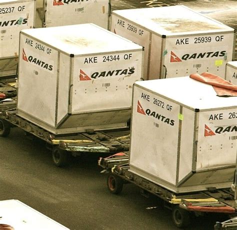 qantas ake containers supplied by nordisk aviation work aviation and cargo container