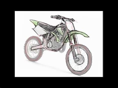 how to draw a motocross bike how to draw dirt bike 2 stroke youtube