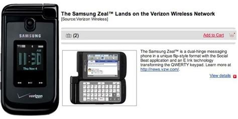 Samsung Zeal Samsung Zeal Available On Verizon For 79 99 Gadgetian