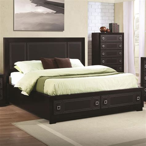 king bed headboard and footboard coaster home 200661ke elijah king bed with leatherette