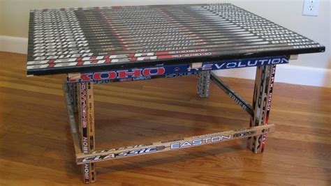 hockey stick coffee table hockey stick builds building furniture with hockey