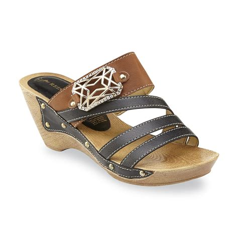 wedge slide sandals reindeer s black brown wedge slide sandal