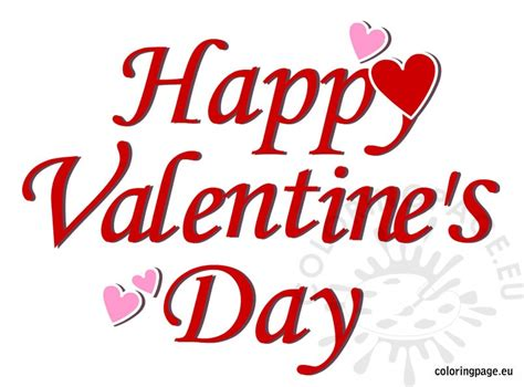 happy valentines day happy s day picture coloring page