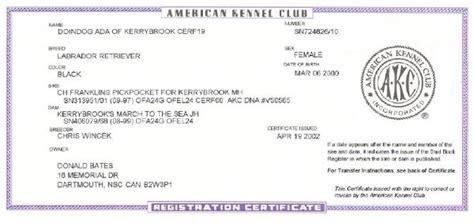 akc registration doindogs ada of kerrybrook cd cdx wc wcx jh retired