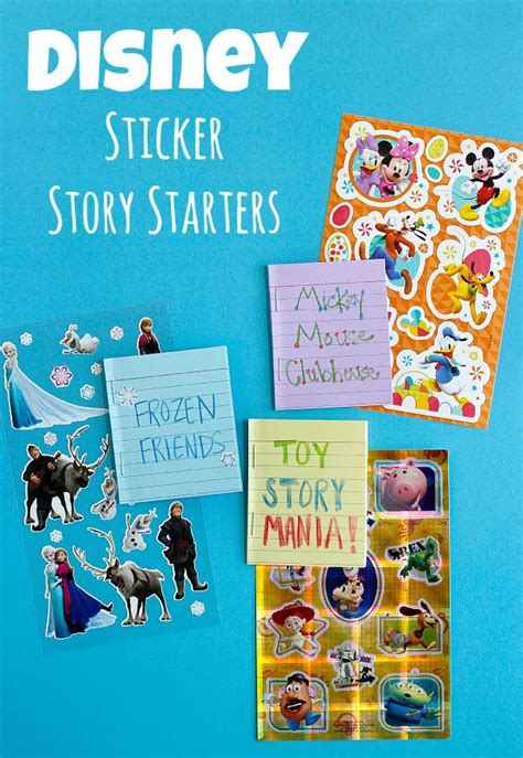 Disney Playtime Stories 7 Stories make disney sticker story starters on your travel to disneyland trips paper and world