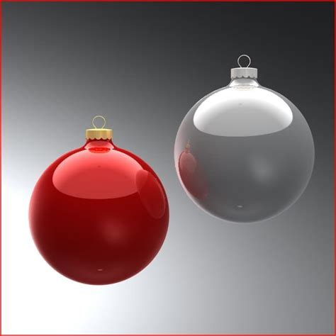 3d model christmas ornaments