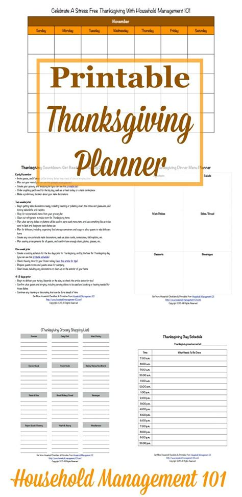 printable thanksgiving meal planner free printable thanksgiving planner 5 forms included