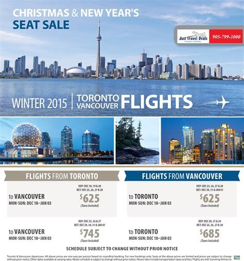 Canada Flights   Christmas and New Year's Seat Sale