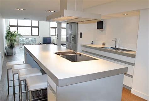 mod鑞e de cuisine contemporaine decoration interieur salon cuisine ouverte