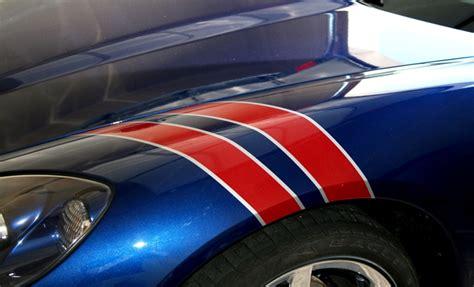 corvette fender stripes c6 corvette gs 2 fender two color stripes kit c6