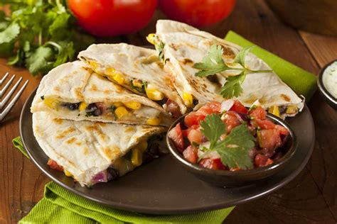 protein quesadilla corn soy quesadillas with spicy mexican salsa by archana