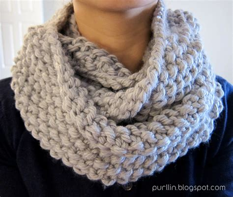 purllin december seed stitch infinity circle scarf free