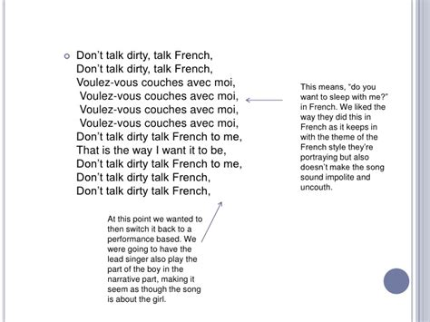 what does couche mean in french laps around the lake lyric analyse