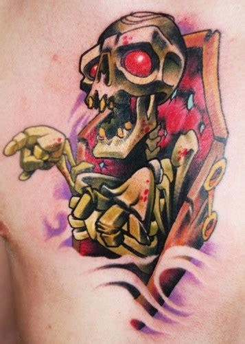 new school tattoo jimmy skeleton skin rip tattoo by jimmylajnen tattoonow