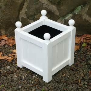 small plantub classic wood square planter