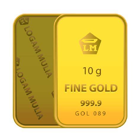 Emas Antam 2 Gr Logam Mulia Emas Batangan 100 Emas M Limited jual emas 10 gram logam mulia 999 9 sertifikat antam harga kualitas terjamin blibli