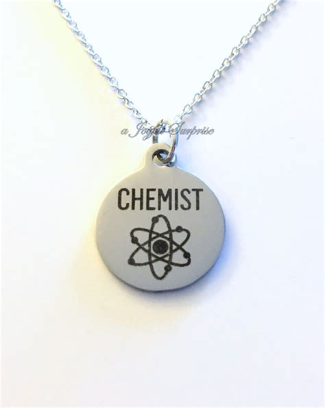 chemist jewelry chemistry science necklace gift for student