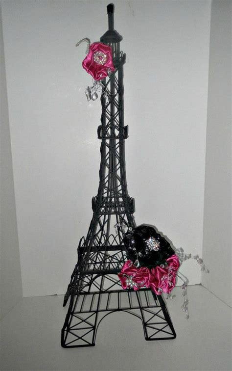 unique elegant parisian sweet 16 centerpiece eiffel tower