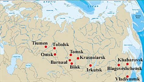 map of siberia russia with cities image gallery siberia cities